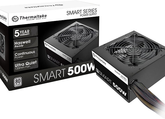 Thermaltake Smart 500W 80+ White Certified PSU, Continuous Power
