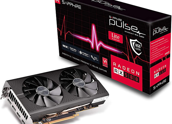 Sapphire 11265-67-20G Radeon Pulse RX 580 8GB GDDR5 Dual HDMI / Dual DP OC