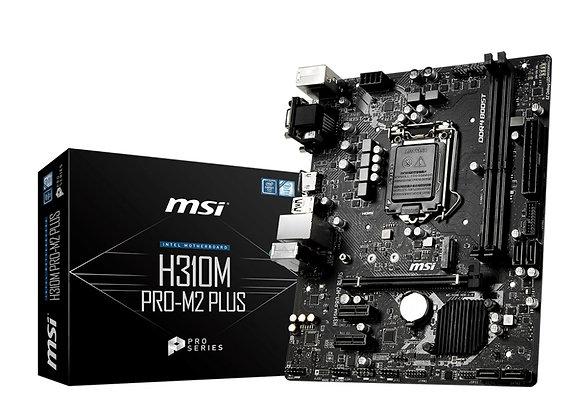 MSI Motherboard H310M Pro-M2 Plus H310 LGA1151 Max32GB DDR4 DVI HDMI SATA