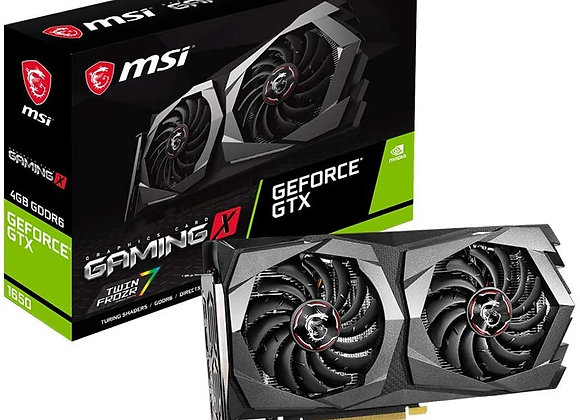 MSI Gaming X GeForce GTX 1650 Dual-Fan 4GB GDDR6 PCIe Graphics Card