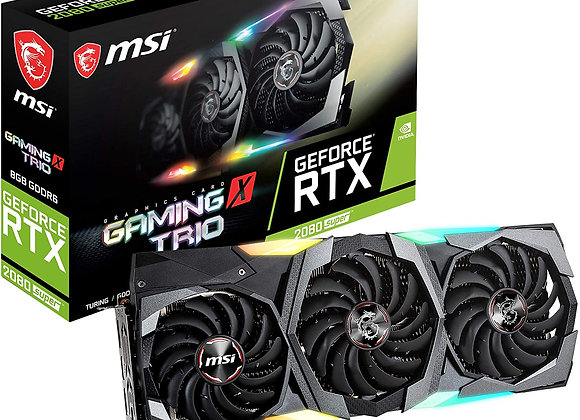 MSI GeForce RTX 2080 Super Gaming X Trio Overclocked Triple-Fan 8GB GDDR6