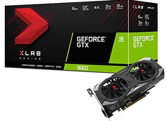 PNY GeForce GTX 1660 6GB XLR8 Gaming Overclocked Edition Graphics Card