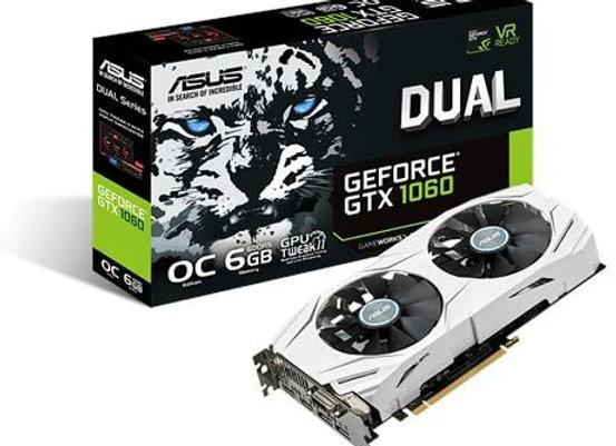 ASUS GeForce GTX 1060 6GB Dual-Fan OC Edition VR Ready Dual HDMI DP 1.4 Gaming
