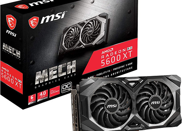MSI Radeon RX 5600 XT Mech Overclocked Dual-Fan 6GB GDDR6 PCIe 4.0 Graphics Card
