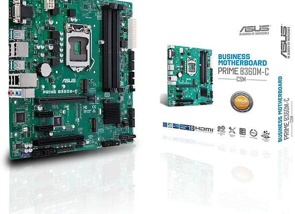 Asus Motherboard Prime B360M-C/CSM LGA1151 B360 DDR4 SATA PCI Express mAtx