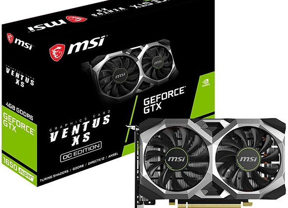 MSI GeForce GTX 1650 SUPER Ventus XS OC Overclocked Dual-Fan 4GB GDDR6 PCIe 3.0