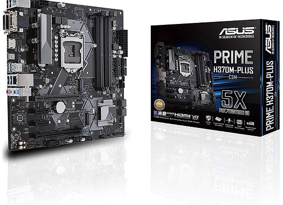 ASUS Prime H370M-Plus/CSM LGA1151 (300 Series) DDR4 HDMI DVI VGA M.2 mATX