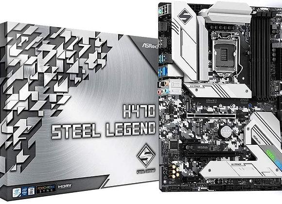 ASROCK H470 Steel Legend Supports 10th Gen Intel Core Processors (Socket 1200)