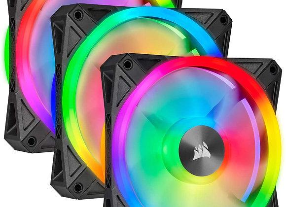Corsair QL120 RGB Hydraulic Bearing 120mm Case Fan - 3 Pack