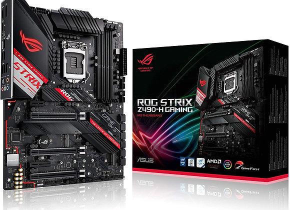 Asus RogStrix Z490-H Gaming LGA1200 Z490 2DDR4 Max64GB PCI Express Atx
