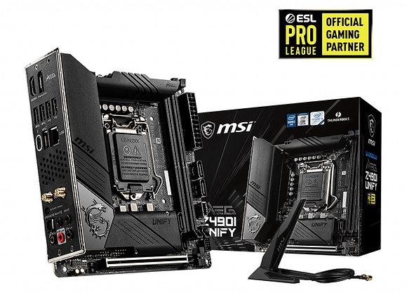 MSI Motherboard MEG Z490I Unify Socket 1200 DDR4 128GB PCI Express/HDMI Mini-Itx