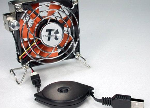 Thermaltake Accessory A1888 Mobile Fan II 80x80x25mm USB Power External