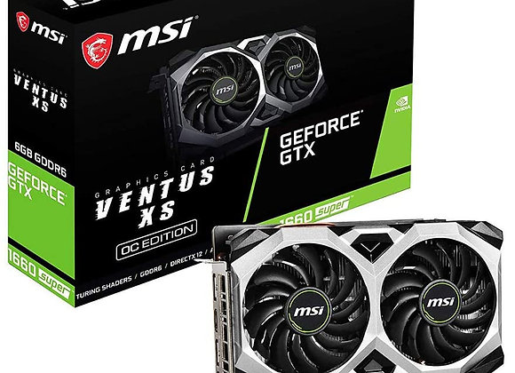 MSI GeForce GTX 1660 Super Ventus XS Overclocked Dual-Fan 6GB GDDR6 PCIe 3.0