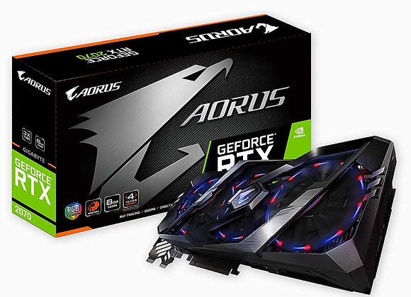 Gigabyte GeForce RTX 2070 Aorus Triple-Fan 8GB GDDR6 PCIe 3.0 Video Card