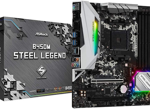 ASRock B450M Steel Legend Socket AM4/ AMD Promontory B450/ DDR4/ Quad CrossFireX