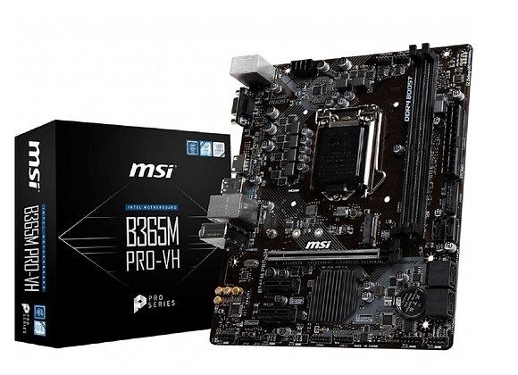 MSI Motherboard B365M Pro-VH B365 LGA1151 32GB DDR4 PCI Express mAtx Retail