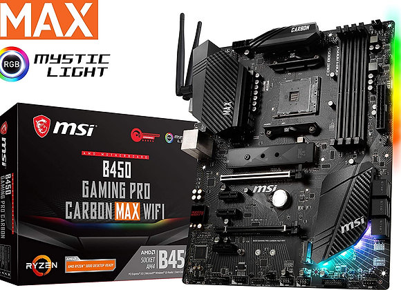 MSI B450 Gaming Pro Carbon Max WIFI Socket AM4 AMD RYZEN PC Motherboard