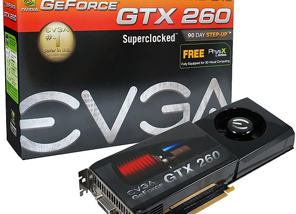 EVGA nVidia GeForce GTX260 Core 216-55nm Superclocked 896 MB DDR3 2DVI