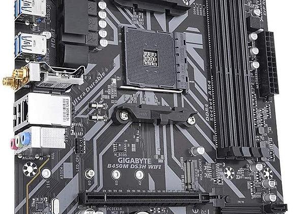 Gigabyte B450M DS3H WiFi B450M AM4 mATX Motherboard