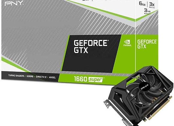 PNY GeForce GTX 1660 Super 6GB Single Fan Graphics Card (VCG16606SSFPPB)