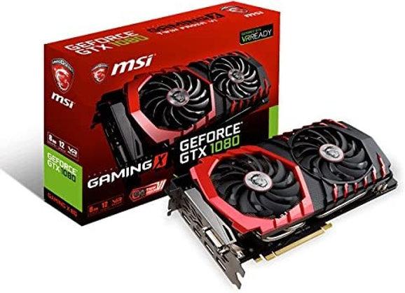 MSI Gaming X GeForce GTX 1080 Overclocked Dual-Fan 8GB GDDR5X PCIe Video Card