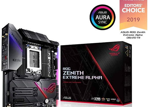 Asus Rog Zenith Extreme Alpha X399 HEDT Gaming Motherboard AMD Threadripper 2