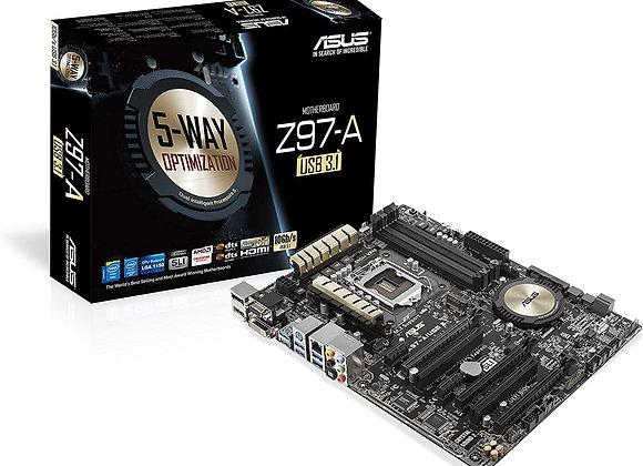 Asus ATX DDR3 2600 LGA 1150 (10Gb/s) Motherboard (Z97-A)