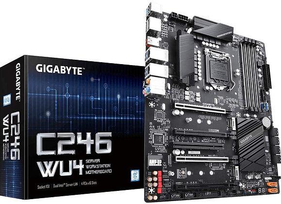 Gigabyte C246-WU4 Intel/C246 Express Chipset/ATX/DDR4/10xSATA3/2xM.2 Motherboard