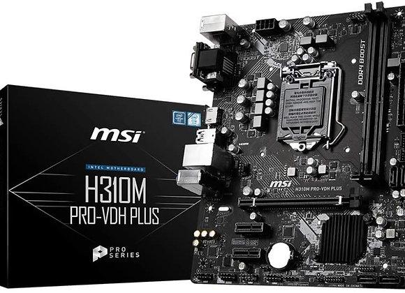 MSI ProSeries Intel Coffee Lake H310 LGA 1151 DDR4 D-Sub DVI HDMI Onboard