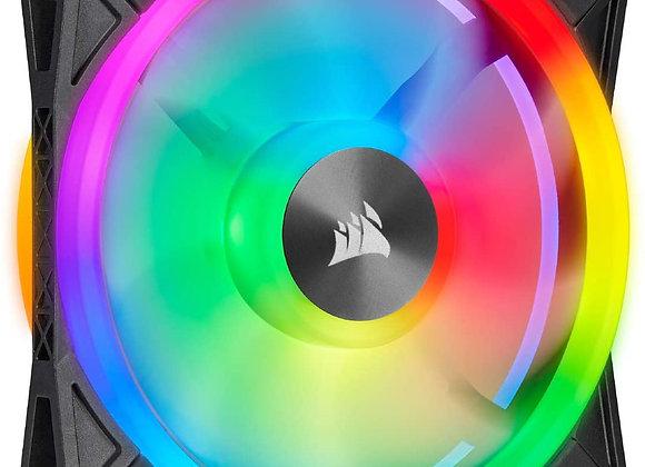 Corsair QL Series, Ql120 RGB, 120mm RGB LED Fan, Single Pack - Black
