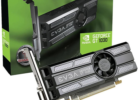 EVGA GeForce GT 1030 SC Low Profile Single-Fan 2GB GDDR5 3.0 PCIe Graphics Card