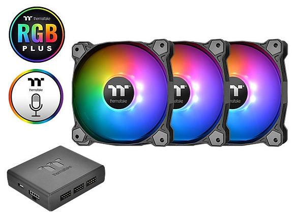 Thermaltake Fan PurePlus 12LED RGB Radiator TT Premium 3Pack Retail