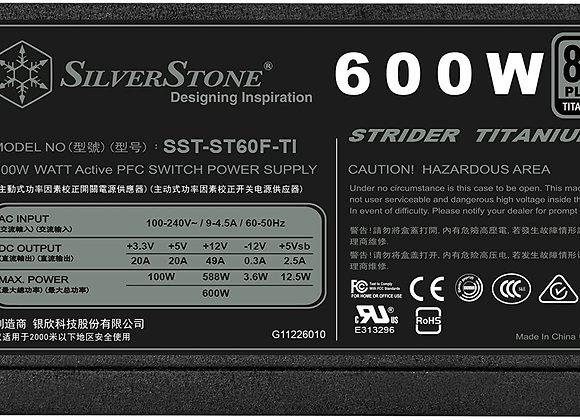 SilverStone Technology Strider Series Fully Modular 600W ATX Power Supply