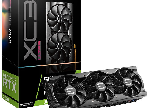 EVGA Video Card GeForce Rtx 3070 XC3 Ultra 8GB GDDR6 iCX3 Cooling ARGB