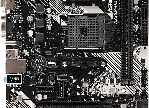 ASRock AMD Ryzen AM4 Compatible with A320 Chip MicroATX Motherboard A320M-HDV