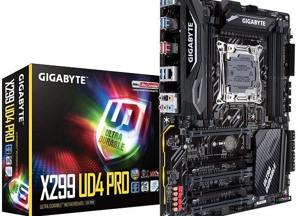 Gigabyte X299 UD4 Pro Intel LGA 2066 Core i9/Atx/2 M.2 USB 3.1 gen 2 Motherboard