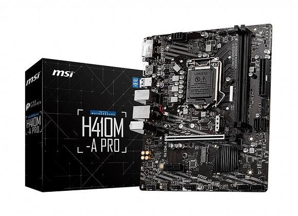 MSI Motherboard H410M-A Pro Socket1200 i9 Max64GB PCI-Express DVI-D/HDMI