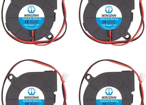 WINSINN 50mm Blower Fan 24V 5015 Hydraulic Bearing 50x15mm Turbine Turbo - High