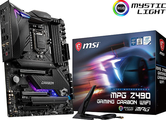 MSI Z490 MPG Gaming Carbon WiFi Intel LGA 1200 ATX Motherboard