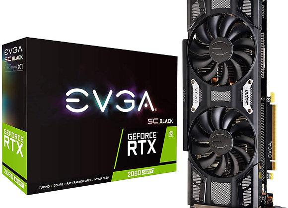 EVGA GeForce RTX 2060 Super SC Black Gaming, 8GB GDDR6, Dual Fans Graphics Card