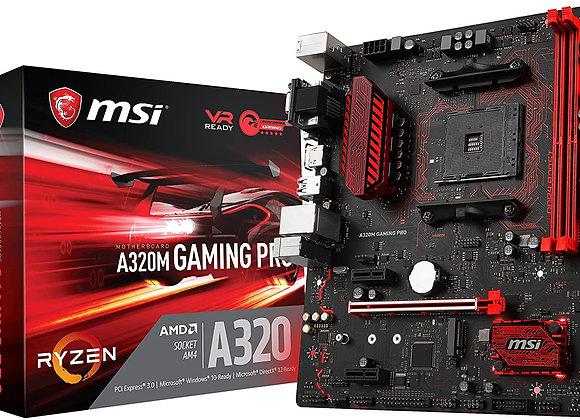 MSI Gaming AMD Ryzen A320 DDR4 VR Ready HDMI USB 3 micro-ATX Motherboard
