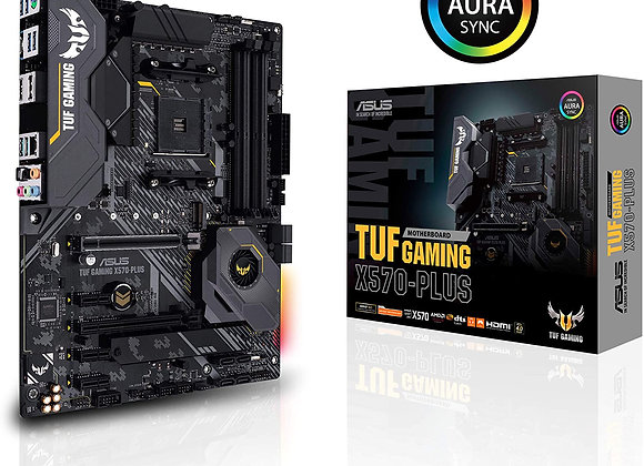 ASUS AM4 TUF Gaming X570-Plus ATX Motherboard with PCIe 4.0, Dual M.2