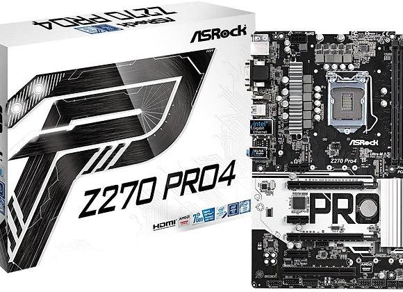 ASRock Z270 Pro4 LGA1151/ Intel Z270/ DDR4/ Quad CrossFireX/ SATA3 Motherboard
