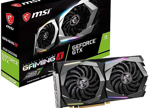 MSI GeForce GTX 1660 Super Gaming X Overclocked Dual-Fan PCIe 3.0 Graphics Card