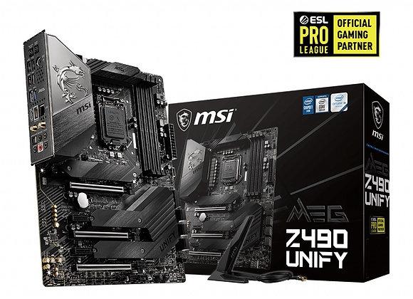 MSI Motherboard MEG Z490 Unify Socket 1200 DDR4 128GB PCI Express Atx Black/Matt