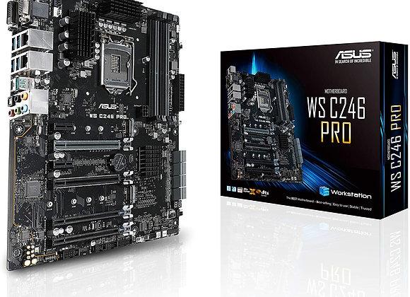 Asus Motherboard LGA1151 ECC DDR4 M.2 C246 Max.64GB Intel Gigabit LAN
