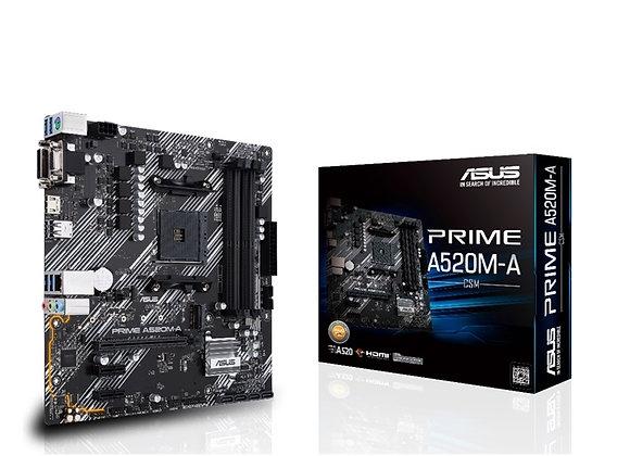 ASUS Prime AMD AM4 A520 Max.128GB DDR4 PCI Express HDMI/D-Sub Windows 10 mAtx