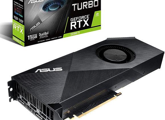Asus GeForce Rtx 2080 Ti 11G Turbo Edition GDDR6 HDMI DP1.4 Type-C Graphics Card