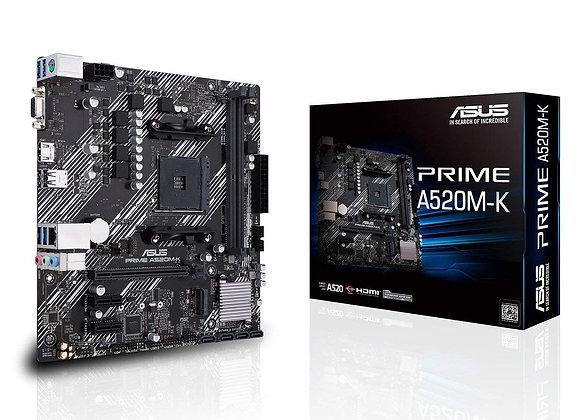 Asus Motherboard Prime A520M-K AMD Ryzen AM4 Max64GB DDR4 mAtx Retail