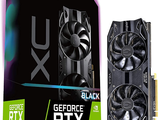 EVGA GeForce RTX 2070 SUPER BLACK GAMING Overclocked Dual-Fan 8GB GDDR6 PCIe 3.0